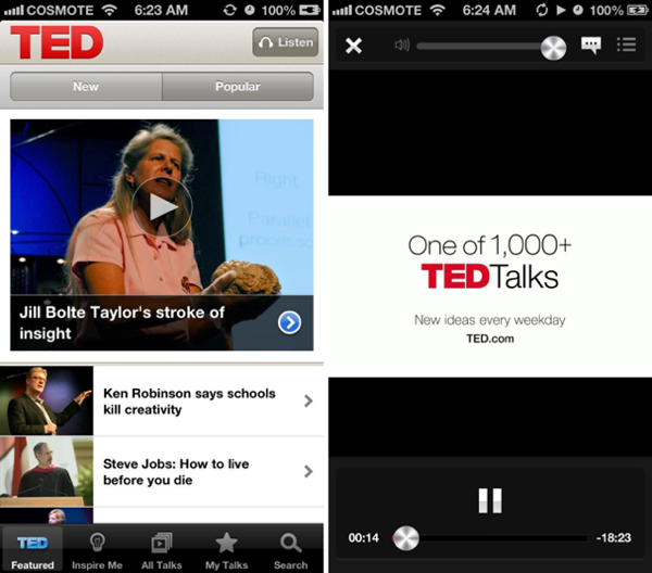 Ted for iphone updated fast subtitles and translations  greekiphone