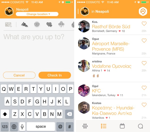 swarm by foursquare greekiphone